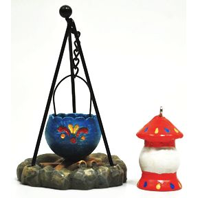 Polystone Mini Lakeside Firepit & Lantern U03-0511232-0092-2 pc set. Mini firepit and lantern. Garden décor.