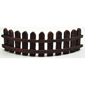 Polystone Mini Garden Fence U03-0601232-0120-a single mini garden fence. Garden décor.
