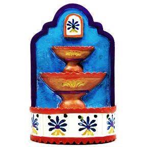 Polystone Mini Fiesta Fountain U03-0601232-0190-a single miniature fiesta style fountain.