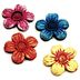 Polystone Mini Fairytale Flower Stepping Stones, 4 pc set U03-0601232-0194
