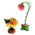Polystone Mini Fairytale Bird Feeder & Lamp, 2 pc set U03-0601232-0292-2 piece set of a miniature bird feeder and lamp. Garden Decor.