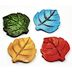 Polystone Mini Woodland Leaf Stepping Stone (4 pc set) U03-0601232-0394-4 pc set of mini leaf shaped stepping stone. Garden décor.
