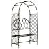 Iron Mini Garden Arbour U03-0604232-0020-a single mini iron arbour. Garden décor.
