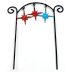Iron Mini Fiesta Arch Stake U03-0604232-0090-a single iron arch. Fiesta style. Garden decor.