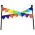 Iron Mini Fiesta Flag Banner Stake U03-0604232-0190-a single mini iron Fiesta style flag banner. Garden décor.