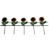 Iron Mini Garden Sunflower Fences, 4 pc set U03-0604232-0294- 4 pc set of mini iron sunflower fences. Garden décor.
