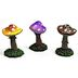 Polystone Mini Terrarium Mushrooms (3 pc set) U03-0801232-0093-3 piece set of mini mushrooms. Garden décor.