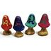 Polystone Mini Fairytale Mushrooms (4 pc set) U03-0801232-0094-set of 4 mini fairytale mushrooms. Various designs. Garden décor.