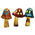 Polystone Mini Woodland Mushrooms (3 pc set) U03-0801232-0193-3 pc set of mini mushrooms. Garden décor.