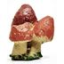 Cement Mini Garden Mushroom U03-0809232-0190-a single mini mushroom. Garden décor.