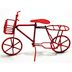 Iron Mini Bicycle U03-0904232-0030-a single red iron bicycle. Garden décor.