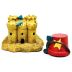 Polystone Mini Seaside Pail & Sand Castle (2 pc set) U03-1101232-0092