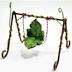 Polystone Mini Fairytale Swing U03-1111232-0090-a single mini fairy style swing. Garden décor.