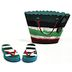 Polystone Mini Seaside Flip Flops & Bag (2 pc set) U03-1201232-0392-2 pc set of mini flip flops and a bag. Garden décor.