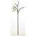 Iron Mini Birdhouse Garden Stake U03-1204232-0190-a single mini birdhouse on a stake. Garden décor.