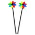 Fiesta Windmill Mini Flower Stakes, 2 pc set U03-0604232-0393-2 pc set of mini Fiesta style flag stakes. Garden décor.
