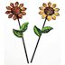 Iron Mini Country Sunflower Stakes, 2 pc set U03-1204232-0492-set of 2 mini iron sunflowers on stakes. Garden décor.