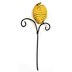 Polystone/Iron Mini Country Beehive Stake U03-1211232-0060-a single beehive on stake. Garden décor.