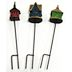 Iron & Polystone Mini Birdhouse Stakes (3 pc set) U03-1211232-0093-3 piece mixed set. Garden décor.