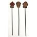Cement & Iron Mini Birdhouse Stakes (3 pc set) U03-1211232-0193-3 pc set of mini birdhouse stakes. Garden décor.