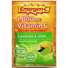 Emergen-C® Dietary Supplement - Lemon Lime V01-0270402-1100-0.3 oz travel size packet.