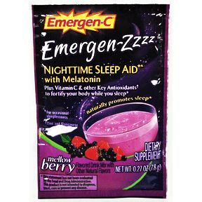 Emergen-C® Emergen-Zzzz Nighttime Sleep Aid - Mellow Berry V01-0270432-1100-0.27 oz travel size pouch.