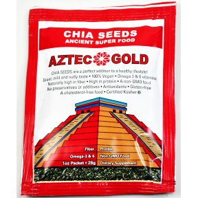Aztec Gold Chia Seeds V01-0289501-1100-1 oz. packet of Chia Seeds. 2 servings per packet.