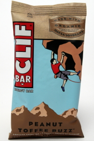 Clif Energy Bar - Peanut Toffee Buzz V01-0369807-8200 - 2.4 oz individual nutrition bar. All natural. No trans fats. 70% organic ingredients. Made with organic oats and soybeans.