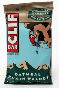 Clif Energy Bar - Oatmeal Raisin Walnut V01-0369808-8200 - 2.4 oz individual nutrition bar. All natural. No trans fats. 70% organic ingredients. Made with organic oats and soybeans.