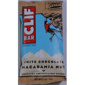 Clif Energy Bar - White Chocolate Macadamia Nut V01-0369814-8200 - 2.4 oz individual nutrition bar. All natural. No trans fats. 70% organic ingredients. Made with organic oats and soybeans.