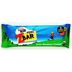 Clif® Kid Organic Zbar - Iced Oatmeal Cookie V01-0369832-8200-1.27 oz. baked whole grain energy snack. Nourishing kids in motion®.
