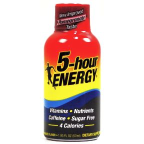 5-hour Energy® drink dietary supplement - Pomegranate V01-0459505-8200-1.93 fl. oz. dietary supplement in plastic bottle. Sugar free.