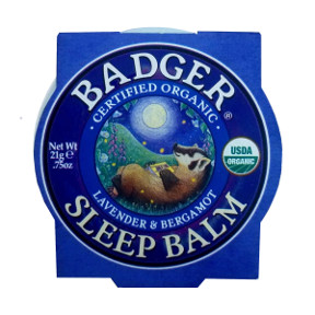 Badger Sleep Balm - Lavender & Bergamot V03-0270701-9100 - 0.75 oz skin balm in travel size tin. USDA Organic.