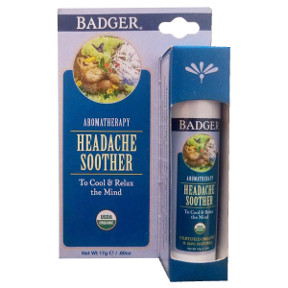 Badger® Headache Soother - Stick V03-0270703-9100-0.6 oz. aromatherapy stick. To cool & relax the mind.