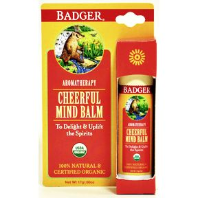 Badger® Cheerful Mind Balm - Stick V03-0270704-9100-0.6 oz. aromatherapy stick. To delight and uplift the spirits.