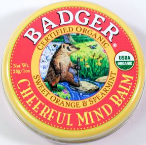 Badger Mind Balm- Cheerful V03-0270704-9200 - 1 oz tin.  USDA Organic.  Sweet orange & spearmint.