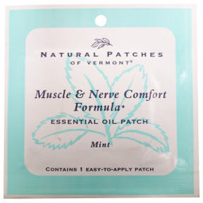 Natural Patches of Vermont Muscle & Nerve Comfort Formula Mint V03-0365100-1400-1 Easy-To-Apply Essential Oil Patch.