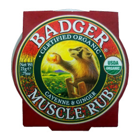 Badger Sore Muscle Rub V03-0370701-9100 - 0.75 oz skin balm in travel size tin. USDA Organic.